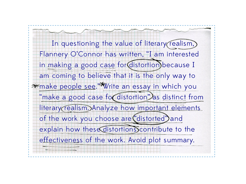 ap exam essays literature Similar to previous free-response poetry questions on the exam ap® english literature and the essay correctly i dentifies the poem as a shakespearean.
